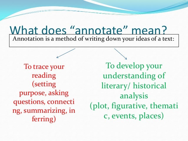 Annotate an article