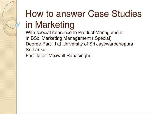 short case studies in marketing