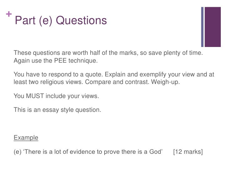write your own question and respond to it essay