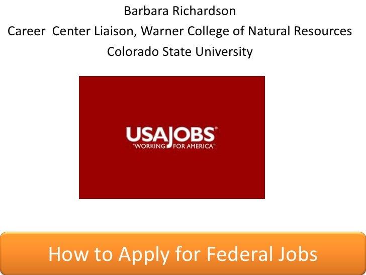 Barbara Richardson<br />Career  Center Liaison, Warner College of Natural Resources<br />Colorado State University<br />Ho...