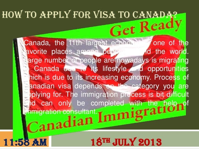 How to apply for visa to canada