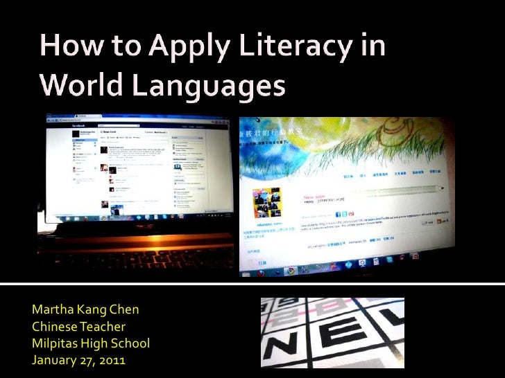 How to apply literacy in world languages