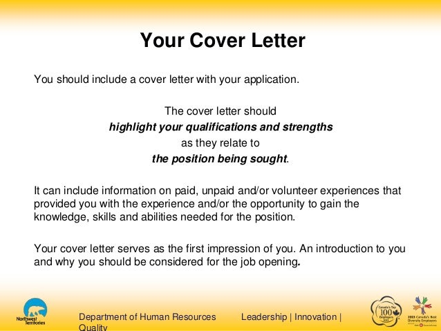 Guideline For Cover Letter For Resume