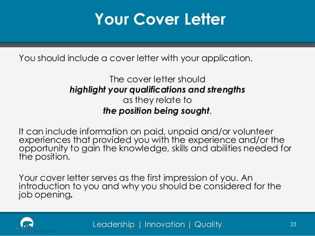 What to Include in a Cover Letter | CareerPerfect com