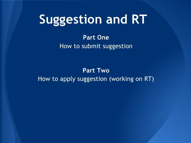 How to apply suggestion