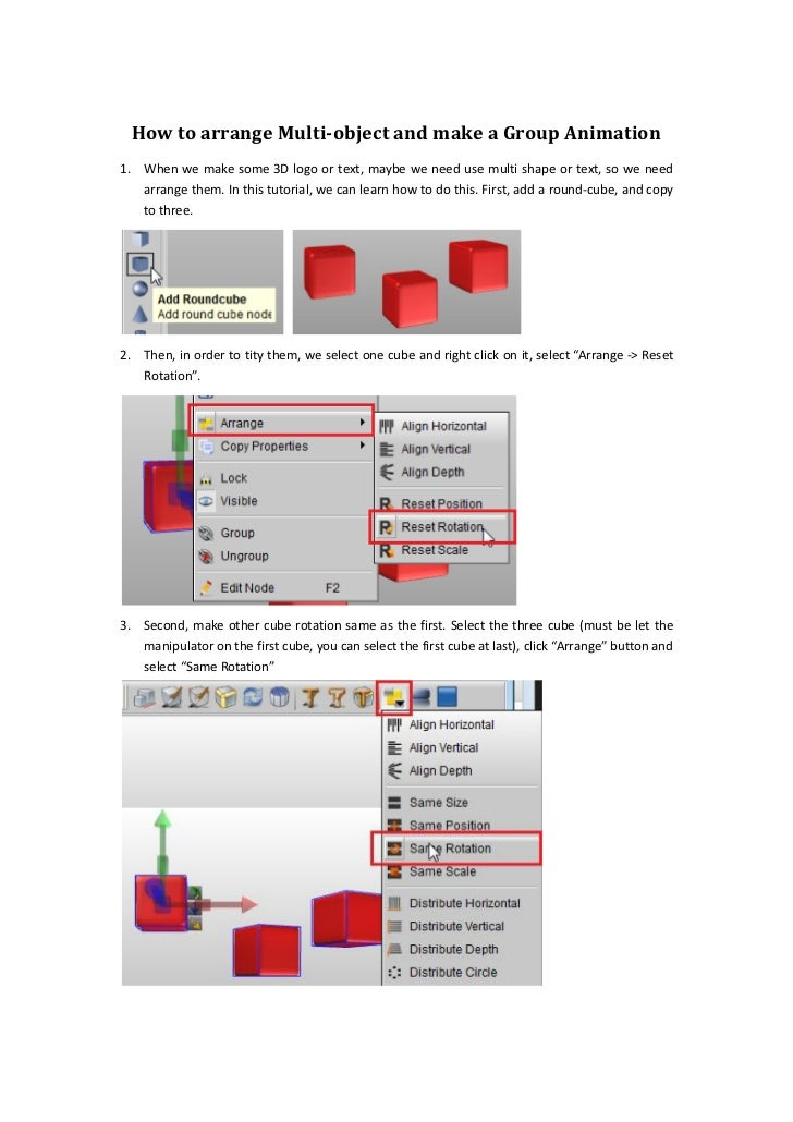 How to arrange Multi-object and make a Group Animation1. When we make some 3D logo or text, maybe we need use multi shape ...