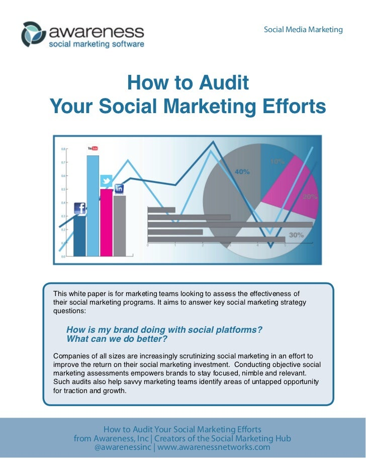 Social Media Marketing       How to AuditYour Social Marketing EffortsThis white paper is for marketing teams looking to a...