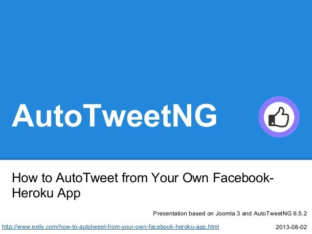 How to AutoTweet from your own Facebook-Heroku App