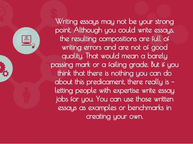 Essay writing services scams