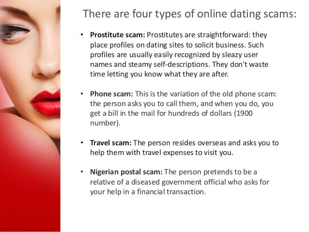 Internet dating scams list