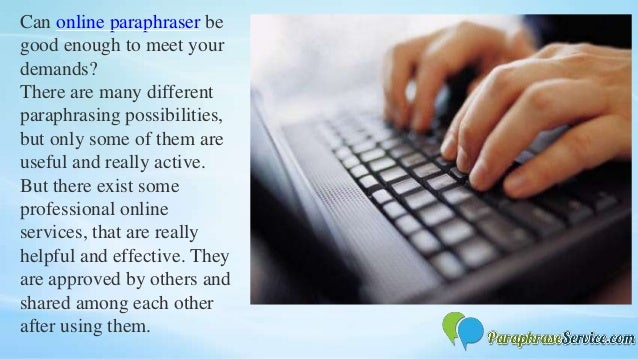How to paraphrase online