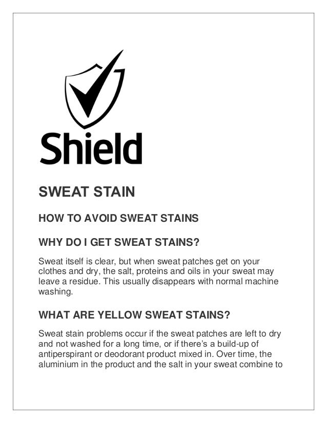 how to prevent pit stains