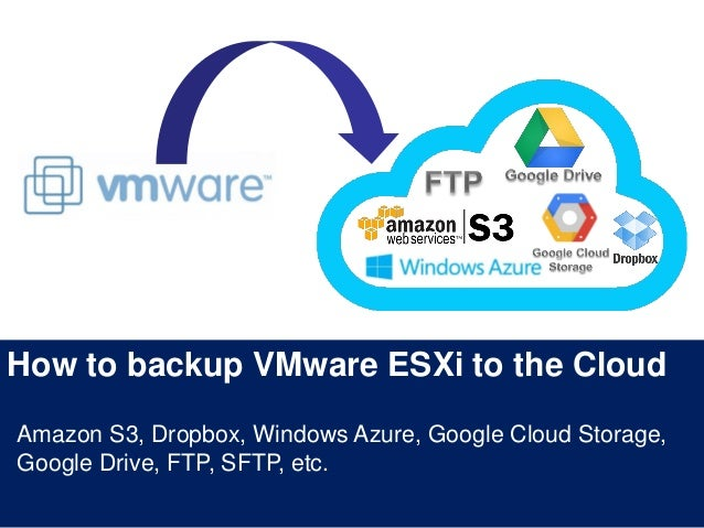 How to backup VMware ESXi to the Cloud