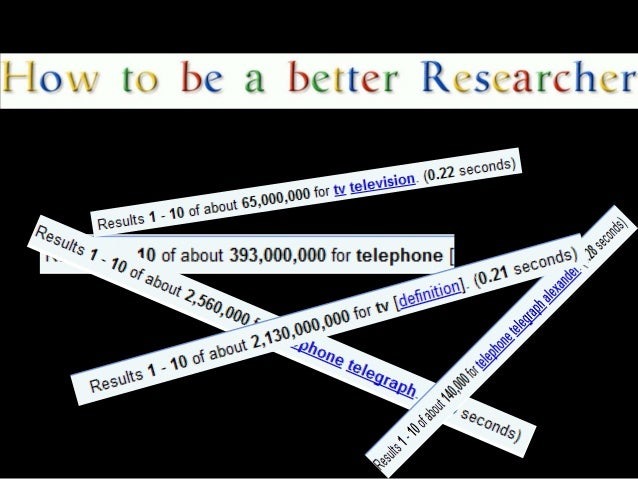 How to be a better researcher