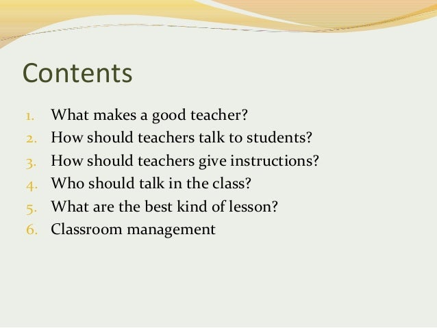 What Should A Teacher Be?