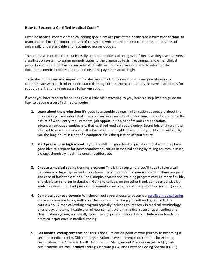 pdf certified coder resume related for book