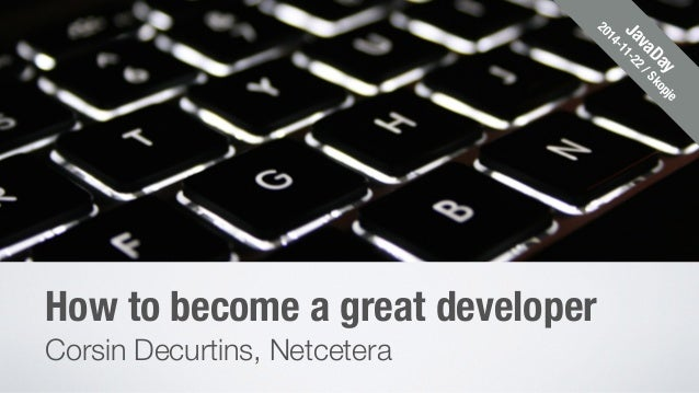 how to become a great developer
