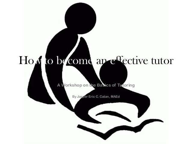 How to become an effective tutor