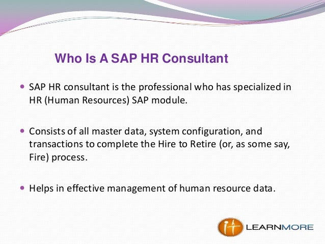 How to Become an SAP HR Consultant