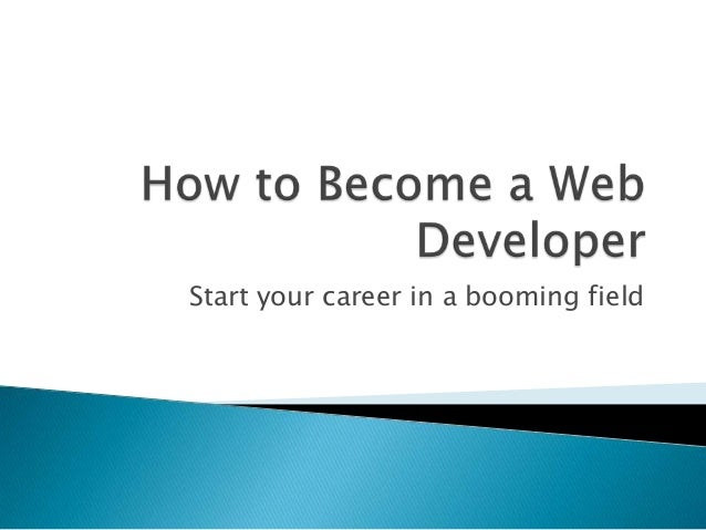 Start your career in a booming field
