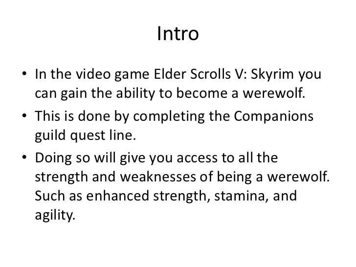 teso how to become a werewolf