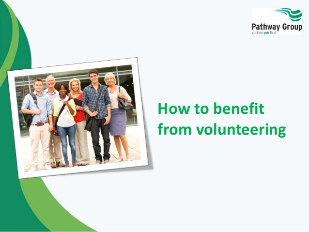 How to benefit from volunteering