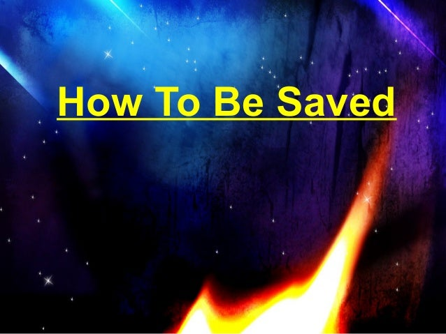 How to be saved (romans road)
