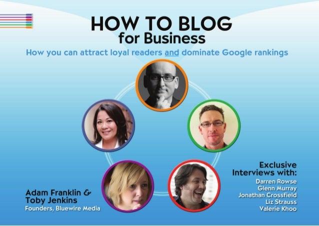 How to Blog for Business e-book