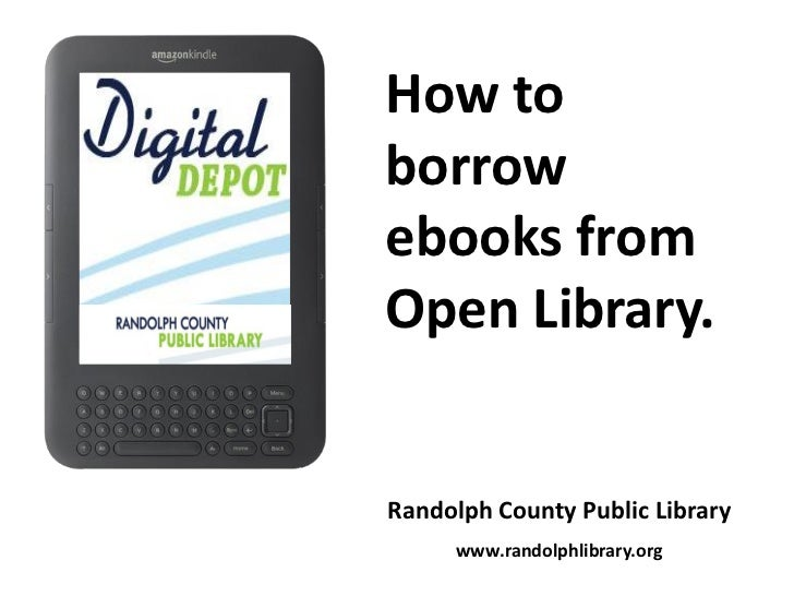 How to borrow ebooks from Open Library.