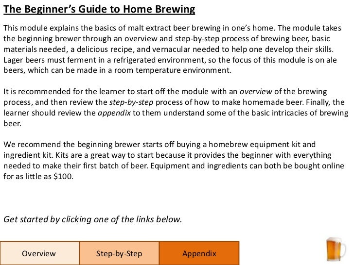 How to brew 1