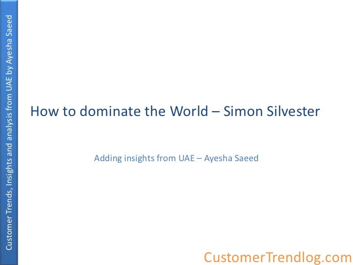 Customer Trends, Insights and analysis from UAE by Ayesha Saeed                                                           ...