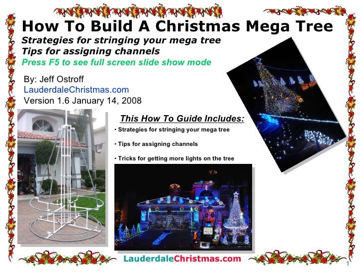 How To Build A Christmas Mega Tree Strategies for stringing your mega tree Tips for assigning channels Press F5 to see ful...