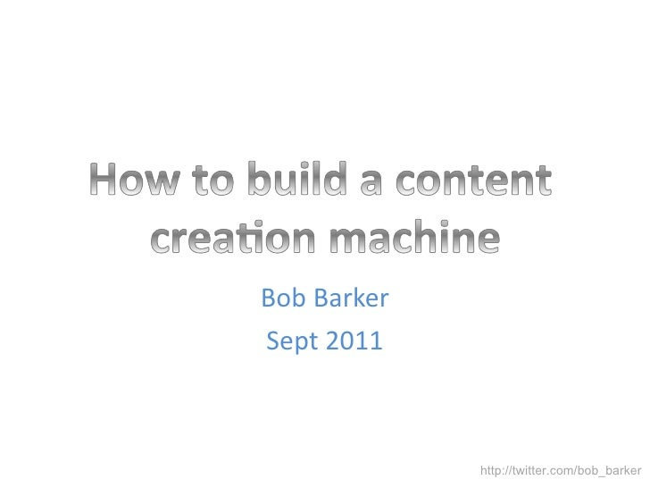 How to build a content creation engine