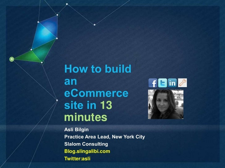 How to build an ecommerce site in 13 minutes