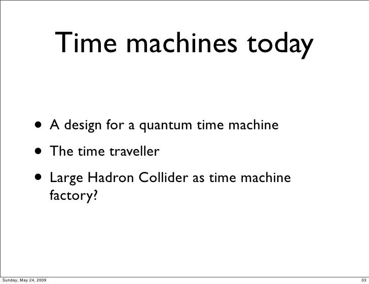 how to make a real time machine that works