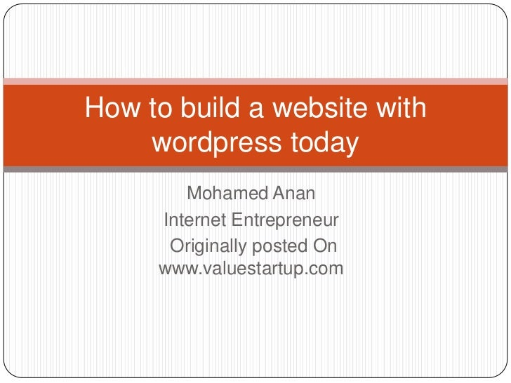How to build a website with wordpress today
