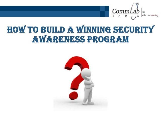 How to Build a Winning Security Awareness Program?