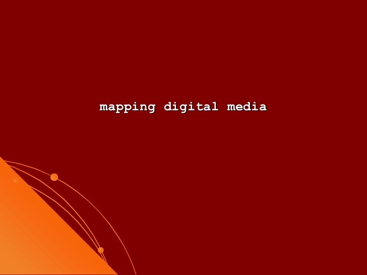 mapping digital media<br />
