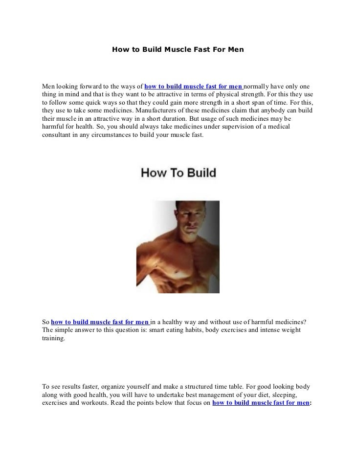 how to get build muscle fast