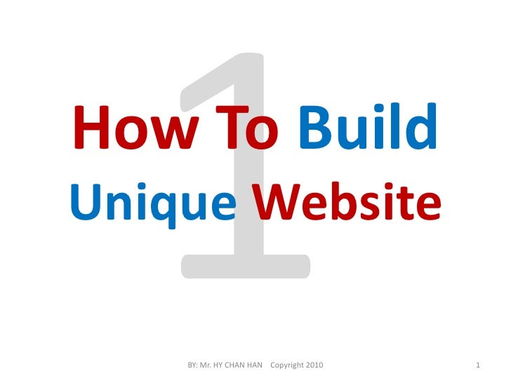 How to build  unique website