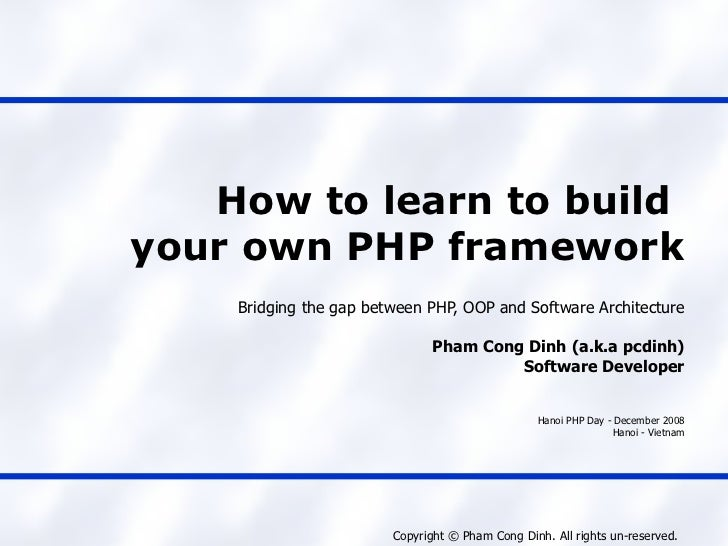 How to learn to build your own PHP framework