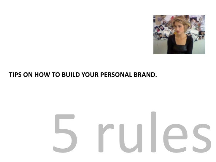 5 rules.<br />for you to consider when building your professional profile.<br />