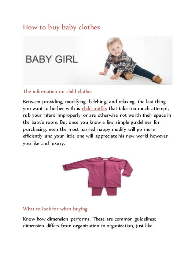 How to baby clothes