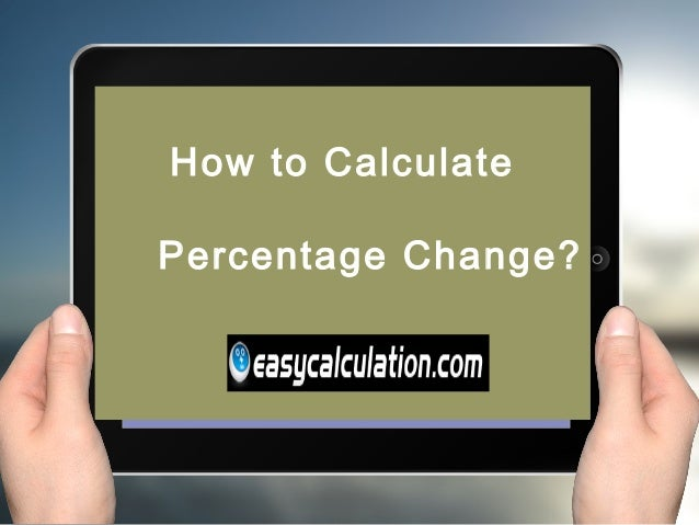 how to compute percentage change