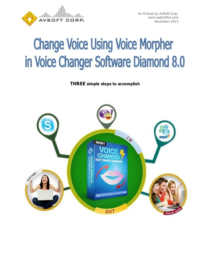 Change Voice Using Voice Morpher in Voice Changer Software Diamond 8.0