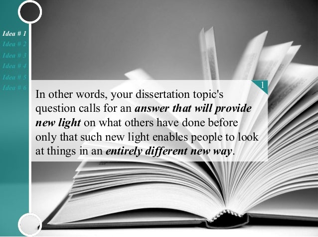 How to write a good abstract for a dissertation