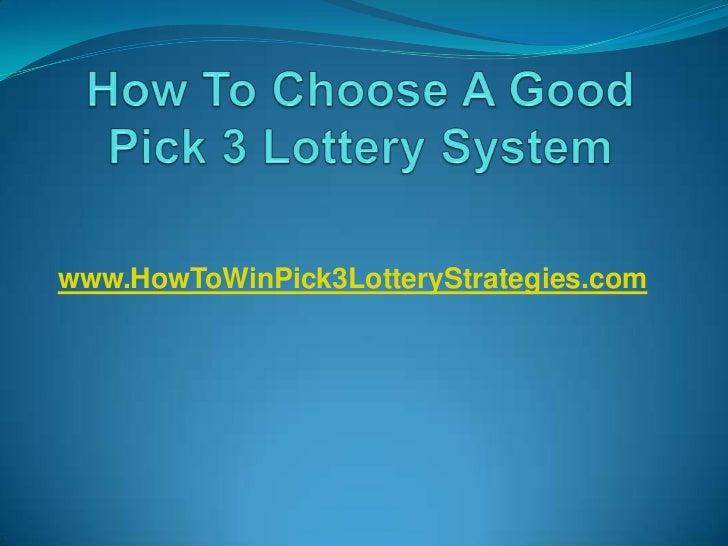 www.HowToWinPick3LotteryStrategies.com