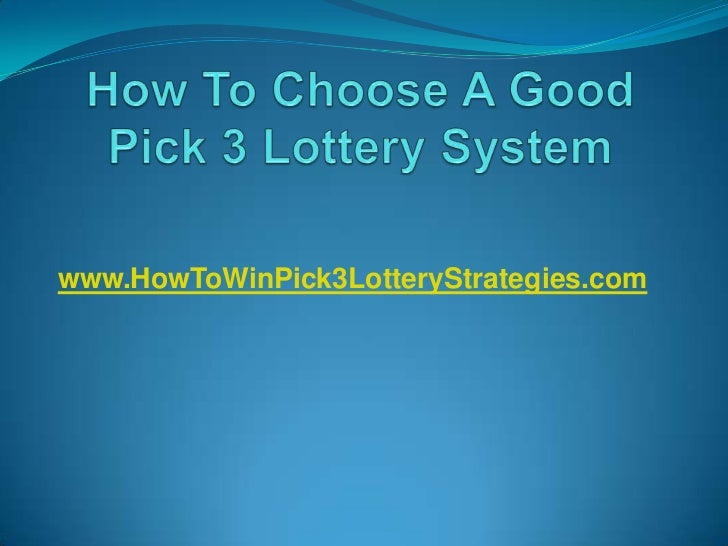 best pick 3 lottery strategy