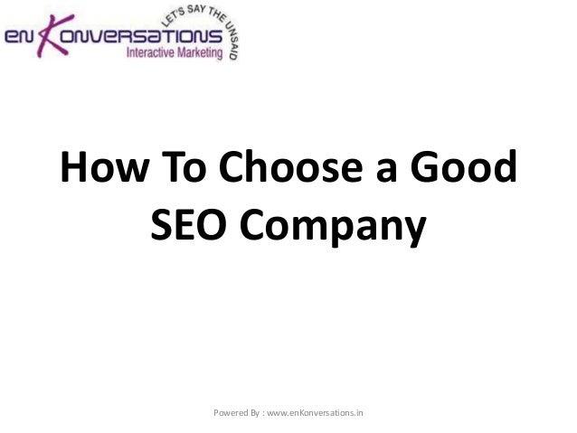 How to choose a good seo company1