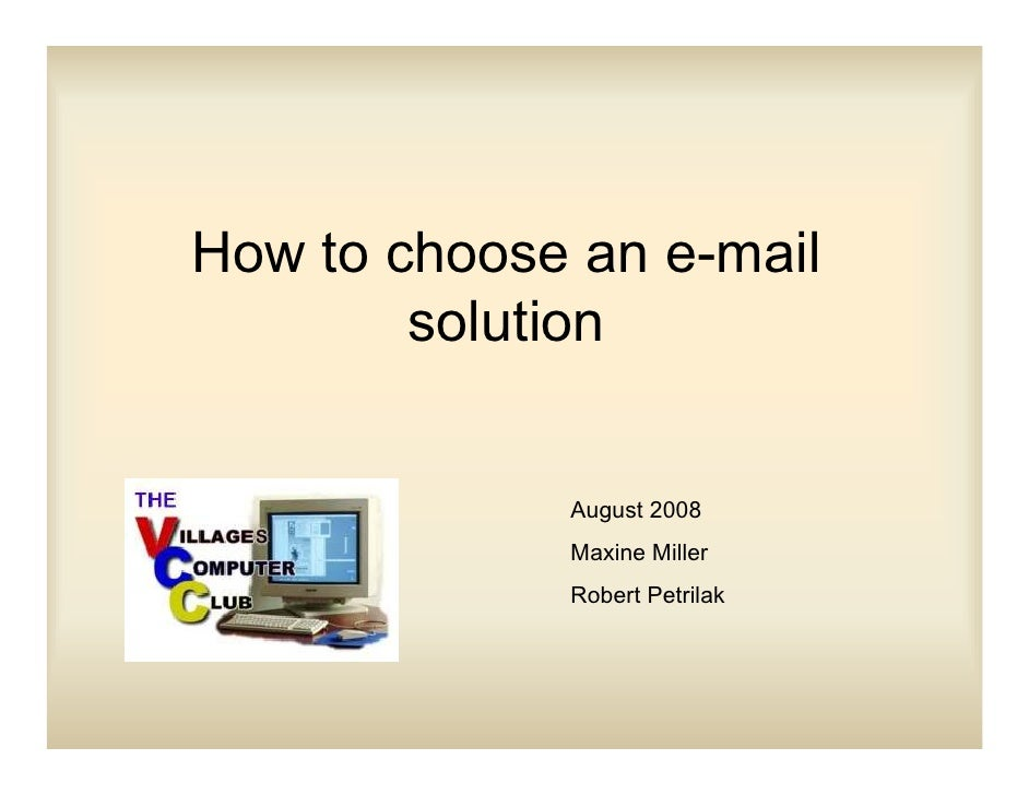 Howtochooseane Mailsolution
